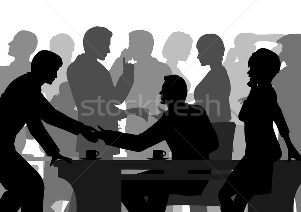 Crowded office Stock photo © Tawng