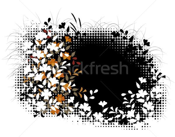 Floral en demi-teinte plantes modèle tous Photo stock © Tawng