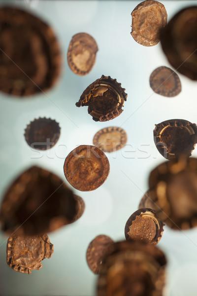 ржавые падение старые бутылку подобно дождь Сток-фото © Tawng