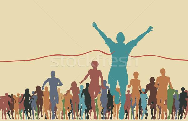 линия красочный человека победа Сток-фото © Tawng