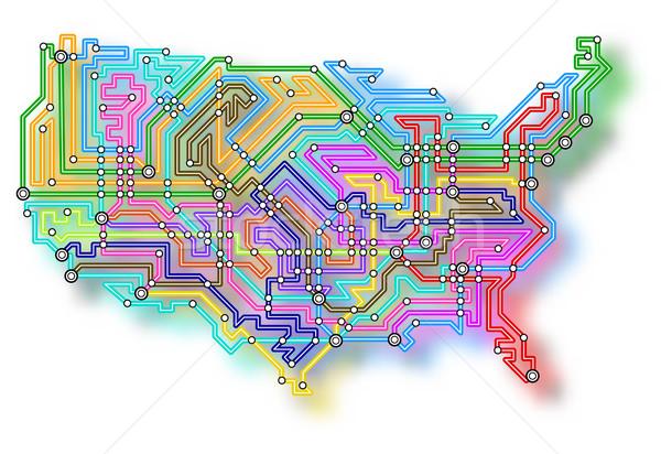USA underground map Stock photo © Tawng