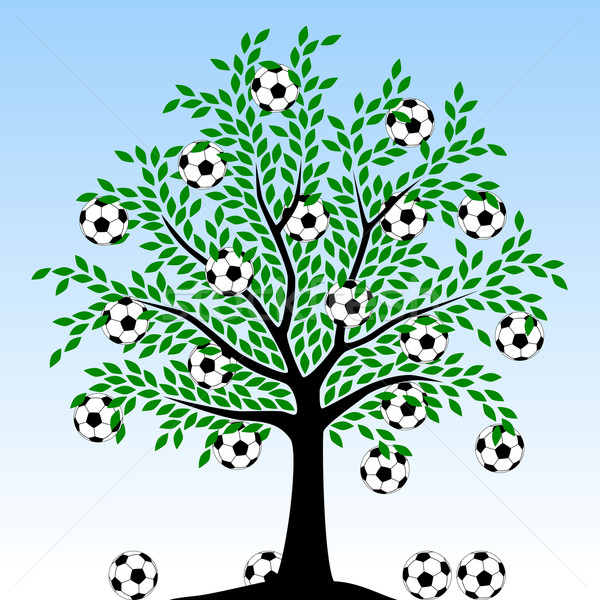 Football tree Stock photo © Tawng