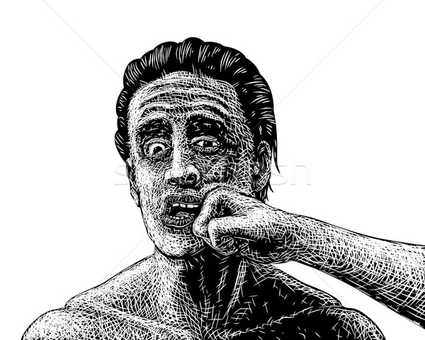 Man punched sketch Stock photo © Tawng