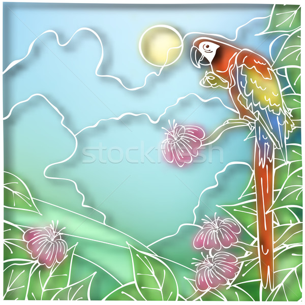 Batik parrot Stock photo © Tawng