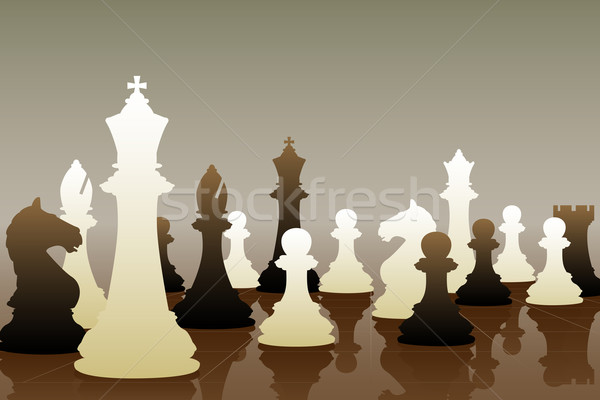 Chess game Stock photo © Tawng