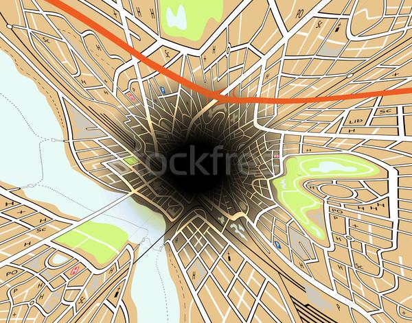 City hole Stock photo © Tawng