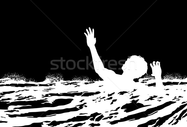 Man drowning Stock photo © Tawng