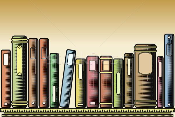 Woodcut books Stock photo © Tawng