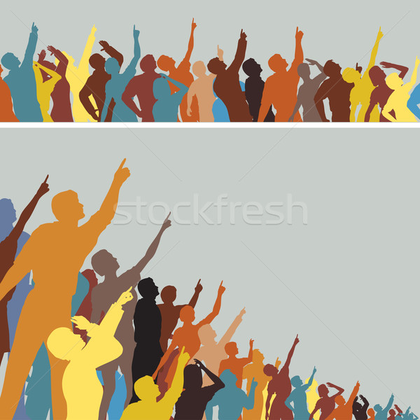 Pointing crowds Stock photo © Tawng