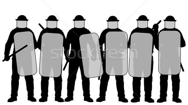 Antidisturbios policía grupo artes seguridad Foto stock © Tawng