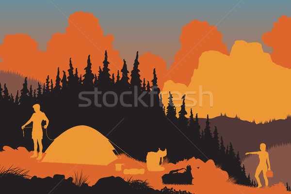Wilderness campers Stock photo © Tawng