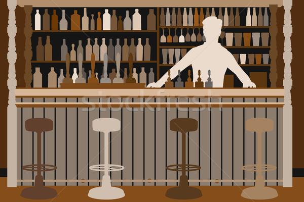 バーテンダー も ビール バー ライフスタイル ストックフォト © Tawng