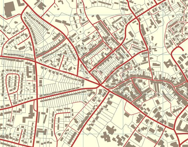 Város térkép szerkeszthető részletes általános utcatérkép Stock fotó © Tawng