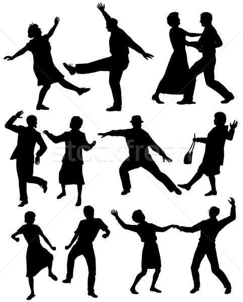 Elderly people dancing Stock photo © Tawng