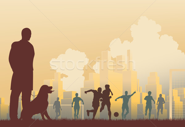 Football spectator Stock photo © Tawng
