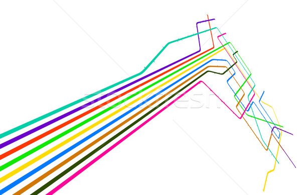 Colored lines Stock photo © Tawng