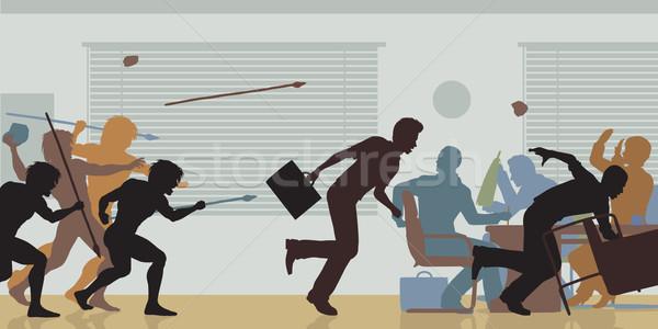 агрессивный корпоративного вектора цвета деловое совещание Сток-фото © Tawng