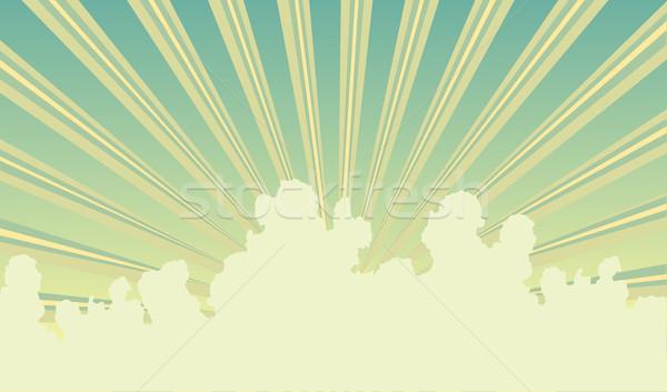 Ciel rayons de soleil nuages fond graphique Photo stock © Tawng