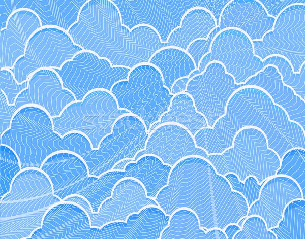 Résumé ciel bleu modèle net Photo stock © Tawng