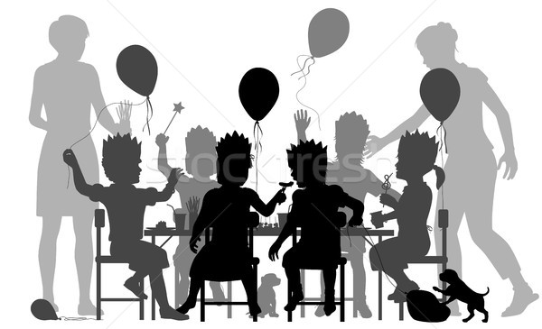 Girls party illustration Stock photo © Tawng