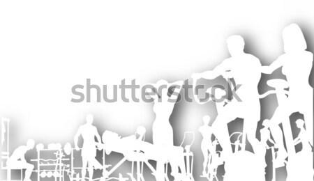 Gymnasium vector mensen Stockfoto © Tawng