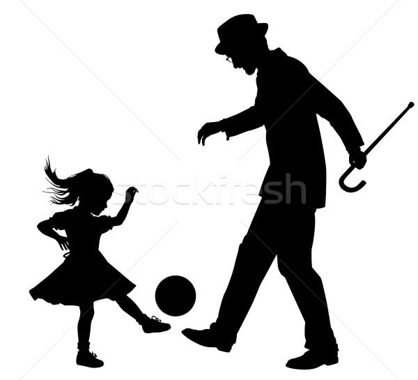Sport alle vector silhouet illustratie ouderen Stockfoto © Tawng