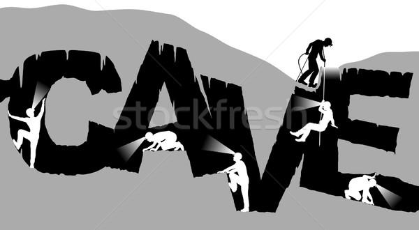 пещере форма слово отдельный Сток-фото © Tawng