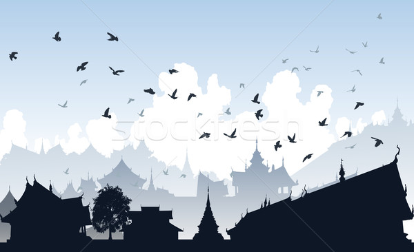 Eastern bird city Stock photo © Tawng