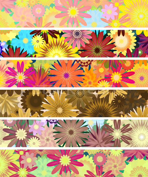 Floral banners Stock photo © Tawng