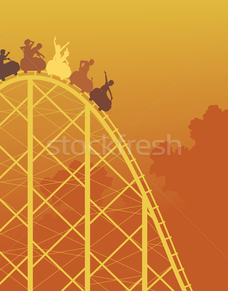Rollercoaster ride Stock photo © Tawng