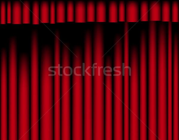 Rouge rideau drap graphique textiles Photo stock © Tawng