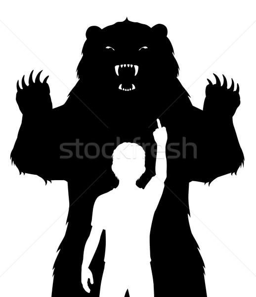 Boy and bear Stock photo © Tawng