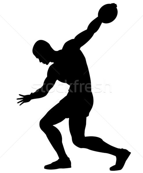 Discus thrower Stock photo © Tawng
