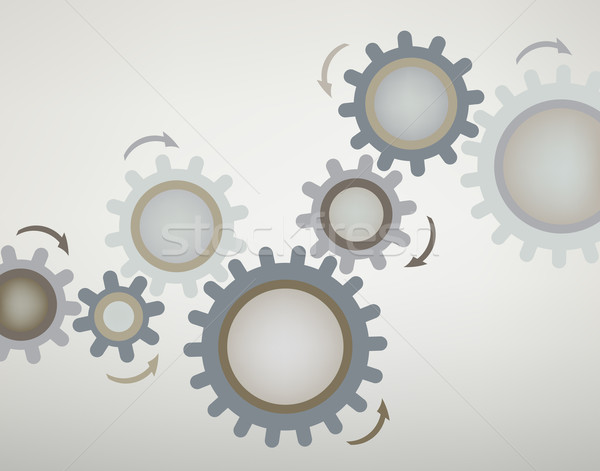 Abstract vector ontwerp cog Stockfoto © Tawng