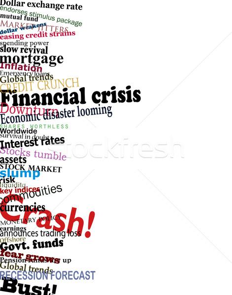 Finansal kriz vektör dizayn ekonomik sorun haber başlıkları Stok fotoğraf © Tawng