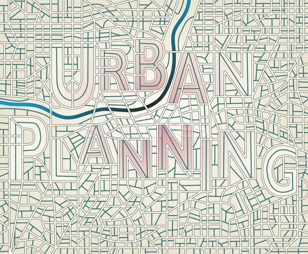 Urbanas planificación vector mapa Foto stock © Tawng