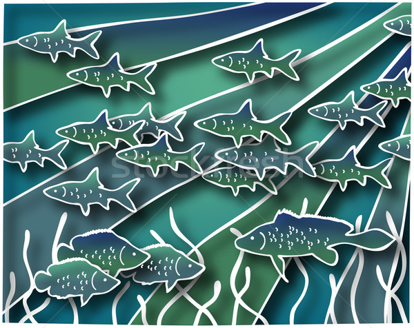Fish batik Stock photo © Tawng