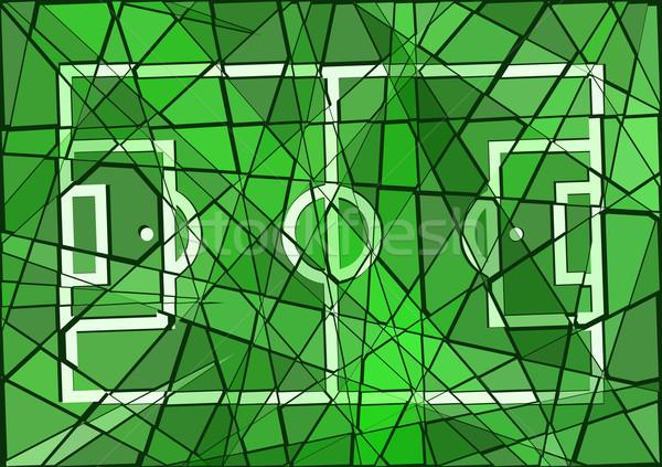 サッカー ピッチ モザイク デザイン スポーツ ストックフォト © Tawng