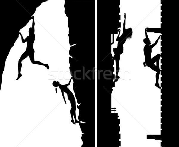 Free climbers Stock photo © Tawng