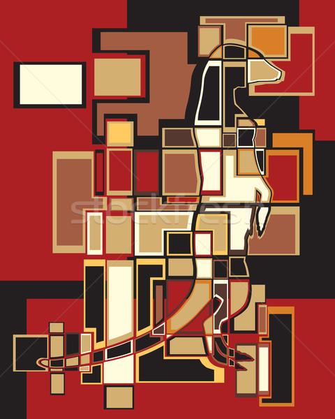 Mozaiek kleurrijk eps8 vector abstract Stockfoto © Tawng