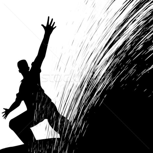 Man sliding Stock photo © Tawng