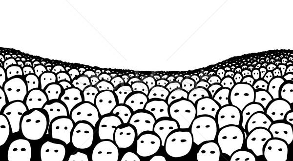 Menigte gezichten publiek Stockfoto © Tawng