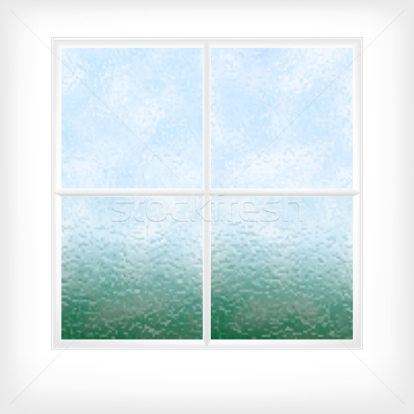 Frosted glass window Stock photo © Tawng