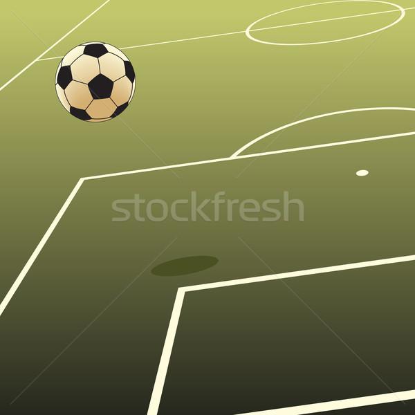 サッカー ピッチ スポーツ フィールド ボール ストックフォト © Tawng
