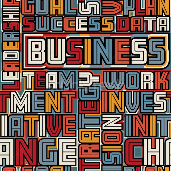 Business words seamless tile Stock photo © Tawng