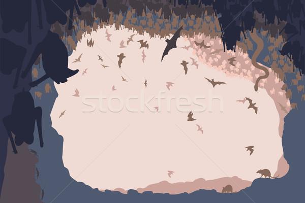 Grot leven dieren bat alle Stockfoto © Tawng
