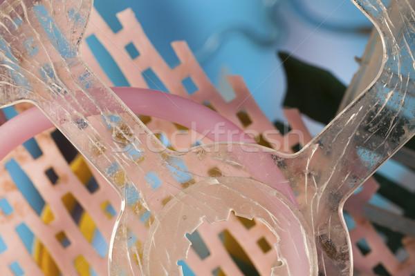 Plastikowe kosza makro różny niebieski podziale Zdjęcia stock © Tawng