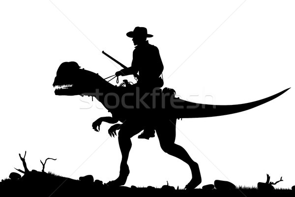 Prehistoric cowboy Stock photo © Tawng