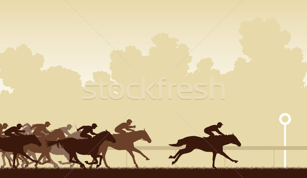 Horse race Stock photo © Tawng