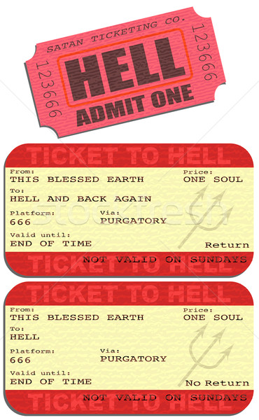 Ticket to hell Stock photo © Tawng